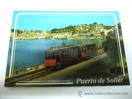 POSTAL MALLORCA - SOLLER - DETALLE DEL PUERTO - TRANVIA - 1986 - NO CIRCULADA (Postales - España - Baleares Moderna (desde 1.940))