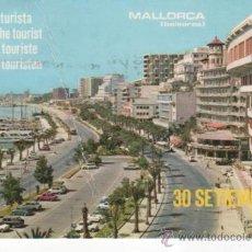 Postales: POSTAL DE LA PLAYA DE MALLORCA. DÍA DEL TURISTA. 30 DE SEPTIEMBRE DE 1971. Lote 36381366