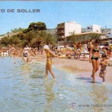 Postales: PUERTO SOLLER (MALLORCA) - PLAYA CON BAÑISTAS - ICARIA 1972. Lote 36197385
