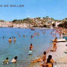 Postales: PUERTO SOLLER (MALLORCA) - PLAYA CON BAÑISTAS - ICARIA 1972. Lote 36197696