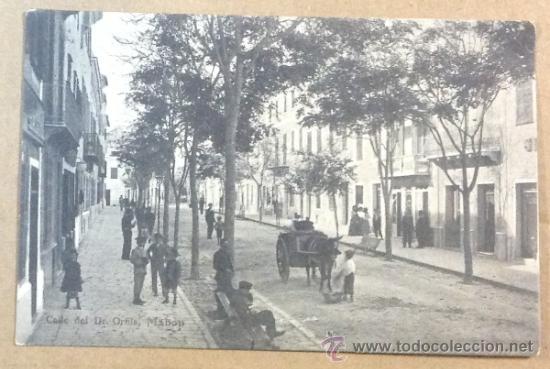 MAHÓN. CALLE DEL DR. ORFILA. (ED. LEON) (Postales - España - Baleares Antigua (hasta 1939))