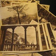 Postales: LOTE DE 19 VISTAS (MÁS 6 REPETIDAS)HUEGRABADO MOMBRÚ. FOMENTO DEL TURISMO PALMA DE MALLORCA. 17X23CM. Lote 37074720