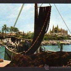 Postales: MALLORCA - PALMA: MUELLE DE PESCADORES Y CATEDRAL. SUBIRATS N. 1404 - 1964. Lote 37244088