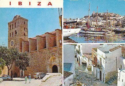 IBIZA, DETALLES DE LA CIUDAD, EDITOR: FIGUERETAS Nº 275, CIRCULADA VER DORSO (Postales - España - Baleares Moderna (desde 1.940))