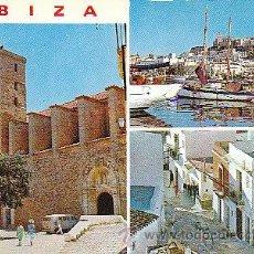 Postales: IBIZA, DETALLES DE LA CIUDAD, EDITOR: FIGUERETAS Nº 275, CIRCULADA VER DORSO. Lote 38054039