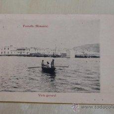 Postales: POSTAL. FORNELLS (MENORCA). VISTA GENERAL. MOLL CAMPS.. Lote 38102637