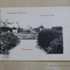 Postales: POSTAL. CIUDADELA (MENORCA). JARDINES DE VIGO. VISTA GENERAL. MOLL CAMPS.. Lote 38102668
