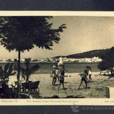 Postales: POSTAL D' EIVISSA (IBIZA): SANT ANTONI ABAD, PLATJA DE L' HOTEL SEVINES (FOTO VIÑETS NUM. 68). Lote 38452982