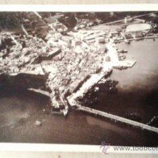 Postales: POSTAL ANTIGUA IBIZA. VISTA GENERAL DESDE AVIÓN. CIRCULADA CON SELLO ARRANCADO EL 20/12/1930.. Lote 39250001