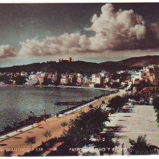 Postales: PALMA DE MALLORCA. PASEO MARÍTIMO Y BELLVER. Lote 39298938