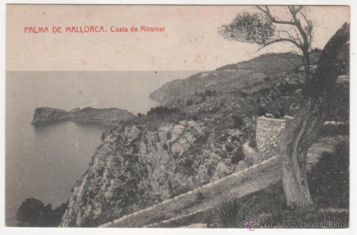 PALMA DE MALLORCA. COSTA DE MIRAMAR (Postales - España - Baleares Antigua (hasta 1939))