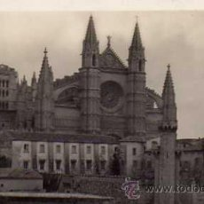 Postales: MALLORCA Nº 13 PALMA CATEDRAL Y PALACIO DE LA ALMUDAINA N.C.P. ESCRITA CIRCULADA SELLO . Lote 39644030