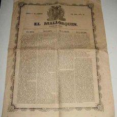 Postales: ANTIGUO Y EXCEPCIONAL PERIODICO EL MALLORQUIN DE 1860 . NUM. 42 DE 11 DE FEBRERO - EL MALLORQUIN, DI. Lote 39543795