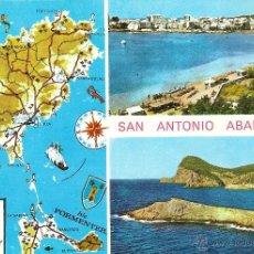 Postales: IBIZA, SAN ANTONIO ABAD, VARIAS VISTAS - EXCLUSIVAS CASA FIGUERETAS Nº 314 - CIRCULADA. Lote 40637345