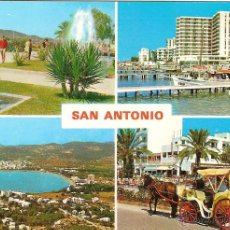 Postales: IBIZA, SAN ANTONIO, VARIAS VISTAS - CASA FIGUERETAS Nº 352 - CIRCULADA. Lote 40656300