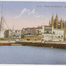 Postales: PALMA DE MALLORCA. MUELLE Y CATEDRAL. AÑOS 1900.. Lote 40779273