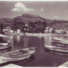 Postales: SÓLLER (MALLORCA): PUERTO DE SÓLLER. RO-FOTO. CIRCULADA (AÑOS 50). Lote 40819660