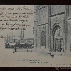 Postales: ANTIGUA POSTAL DE PALMA DE MALLORCA. PUERTA DE LA LONJA. HAUSER Y MENET. Lote 40936534
