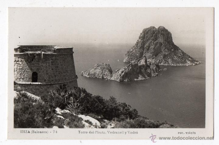 IBIZA. TORRE DEL PIRATA. VEDRANELL Y VEDRÁ. (Postales - España - Baleares Moderna (desde 1.940))