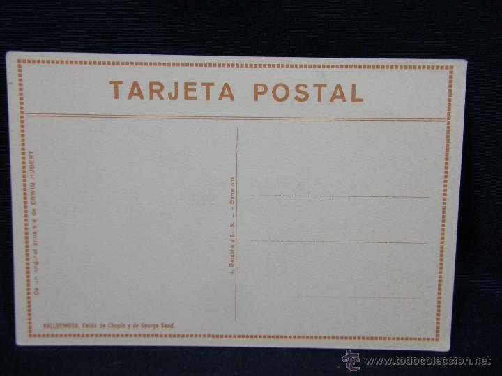 Postales: tarjeta postal Valldemosa celda Chopin y George Sand de un original acuarela Erwin Hubert Mallorca - Foto 2 - 41006245