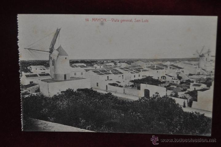ANTIGUA POSTAL DE MAHON. MENORCA. VISTA GENERAL, SAN LUIS. SIN CIRCULAR (Postales - España - Baleares Antigua (hasta 1939))