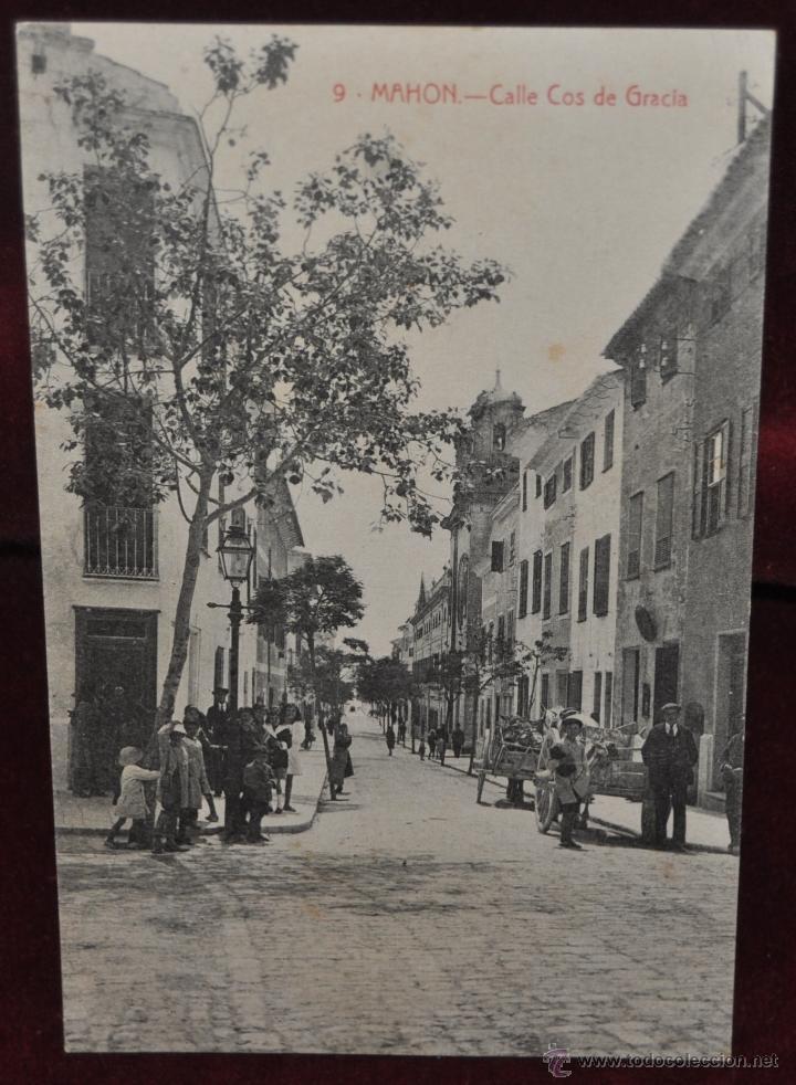 ANTIGUA POSTAL DE MAHON. MENORCA. CALLE COS DE GRACIA. ED. B. TUDURI. SIN CIRCULAR (Postales - España - Baleares Antigua (hasta 1939))