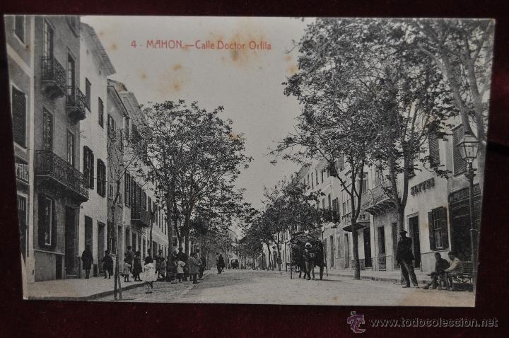 ANTIGUA POSTAL DE MAHON. MENORCA. CALLE DOCTOR ORFILA. ED. B. TUDURI. SIN CIRCULAR (Postales - España - Baleares Antigua (hasta 1939))