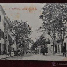 Postales: ANTIGUA POSTAL DE MAHON. MENORCA. CALLE DOCTOR ORFILA. ED. B. TUDURI. SIN CIRCULAR. Lote 41131663