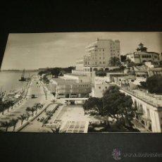 Postales: PALMA DE MALLORCA PASEO MARITIMO PISCINA DEL HOTEL VICTORIA Y HOTEL MEDITERRANEO. Lote 41217919