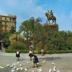 Postales: POSTAL MONUMENTO AL REY JAIME I - PLAZA ESPAÑA - MALLORCA - ESCRITA. Lote 41466477