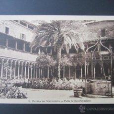 Postales: POSTAL BALEARES. PALMA DE MALLORCA. PATIO DE SAN FRANCISCO. . Lote 41539033