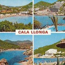 Postales: IBIZA, CALA LLONGA, EDITOR: FIGUERETAS Nº 443, CIRCULADA VER EL DORSO. Lote 41673171