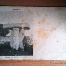 Postales: ANTIGUA POSTAL MENORCA. ALTAR DE TORRE TRENCADA. TOUS Nº 10. DORSO SIN DIVIDIR. CIRCULADA EL 04/1902. Lote 42110985