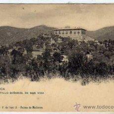 Postales: MALLORCA. CASTILLO SEÑORIAL DE SON VIDA. LIBRERIA ESCOLAR. REVERSO SIN DIVIDIR. . Lote 42191533