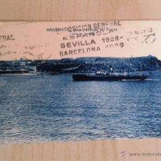 Postales: ANTIGUA POSTAL MENORCA. MAHÓN. LA MOLA Y ENTRADA DEL PUERTO. CIRCULADA EL 15/05/1928. . Lote 42207462