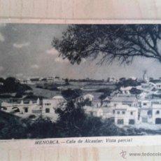 Postales: ANTIGUA POSTAL MENORCA. CALA DE ALCAUFAR. VISTA PARCIAL. CIRCULADA. . Lote 42207552