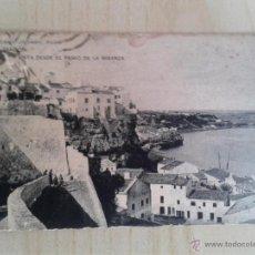 Postales: ANTIGUA POSTAL MENORCA. MAHÓN. VISTA DESDE LA MIRANDA. CIRCULADA EL 31/12/1921. . Lote 42207654