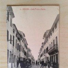Postales: ANTIGUA POSTAL MENORCA. CALLE PRIETO Y CAULES. . Lote 42207688