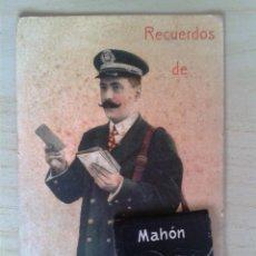 Postales: ANTIGUA POSTAL MENORCA. RECUERDOS DE MAHÓN. DESPLEGABLE CON 10 MINI VISTAS. Lote 42208042