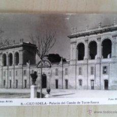 Postales: ANTIGUA POSTAL MENORCA. CIUDADELA. PALACIO DEL CONDE DE TORRE-SAURA. . Lote 42208438