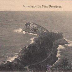 Postales: MIRAMAR - LA PEÑA FORADADA - GRAFOS MADRID - SIN CIRCULAR - AÑOS 30. Lote 42588862