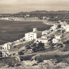 Postales: PS4218 IBIZA 'HOTEL EBESO, SITUADO EN LA PLAYA DE LAS FIGUERETAS'. FOTO VIÑETS. CIRCULADA EN 1950. Lote 42630345