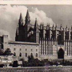 Postales: MALLORCA (PALMA) Nº 7842 CATEDRAL Y PALACIO DE LA ALMUDAINA ZERKOWITZ ESCRITA CIRCULADA SELLO . Lote 42723373