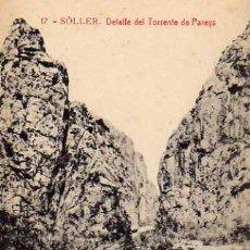 Postales: SOLLER Nº 17 DETALLE DEL TORRENTE DE PAREYS ED. LA ARTÍSTICA FOTOTIPIA THOMAS SIN CIRCULAR . Lote 42723466