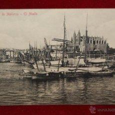 Postales: ANTIGUA POSTAL DE PALMA DE MALLORCA. EL MUELLE. CIRCULADA. Lote 42872993