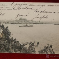 Postales: ANTIGUA POSTAL DE PALMA DE MALLORCA. VISTA DESDE SANTA CATALINA. CIRCULADA. Lote 42873001
