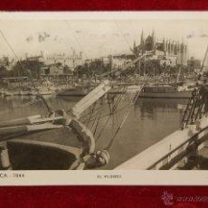 Postales: ANTIGUA FOTO POSTAL DE PALMA DE MALLORCA. VISTA DEL PUERTO. CIRCULADA. Lote 42873069