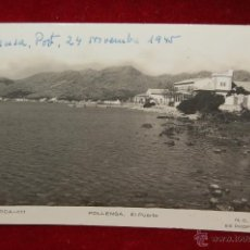 Postales: ANTIGUA FOTO POSTAL DE POLLENSA. MALLORCA. EL PUERTO. CIRCULADA. Lote 42873118