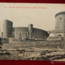 Postales: ANTIGUA POSTAL DE PALMA DE MALLORCA. CASTILLO DE BELLVER. FOTPIA. THOMAS. CIRCULADA. Lote 42873140
