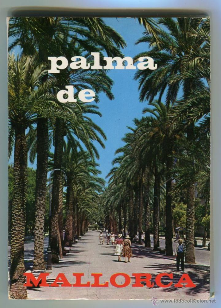 PALMA DE MALLORCA ACORDEON CON NUEVE POSTALES DIVIDIDAS CASA PLANAS EXCELENTES VER IMAGENES (Postales - España - Baleares Moderna (desde 1.940))